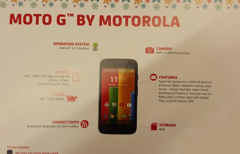 Moto G - Moto G: ra mắt ngày 13/11, giá 4 triệu đồng