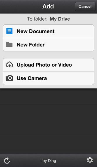 google drive ios 1 - [iOS] Ứng dụng Google Drive đã hỗ trợ đăng nhập nhiều tài khoản