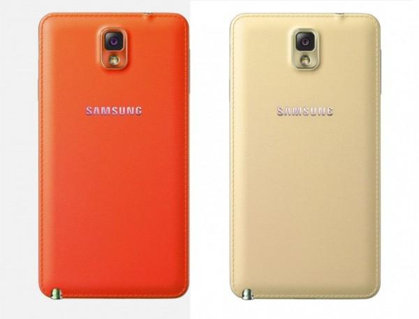 Note 3 - Galaxy Note 3: thêm màu vàng nhạt và đỏ cam