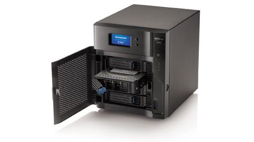 LenovoEMC px4 400d NAS open front shot 01 2014 - CES 2014: Lenovo giới thiệu LenovoECM px4-400d