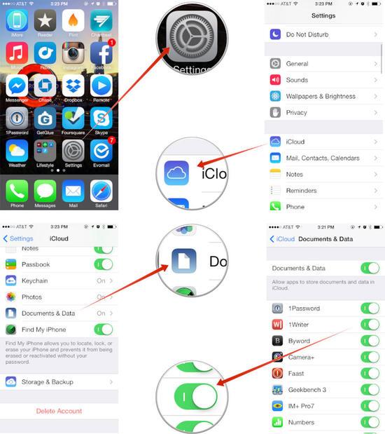 icloud - [iOS] Cách lưu dữ liệu iOS 7 hiệu quả lên iCloud
