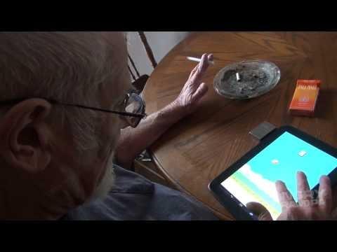 flappy bird funny - Khi cụ ông chơi Flappy Bird