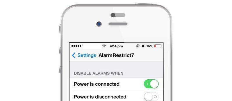 alarmrestrict7 - AlarmRestrict7: Không cho đồng hồ báo thức đổ chuông