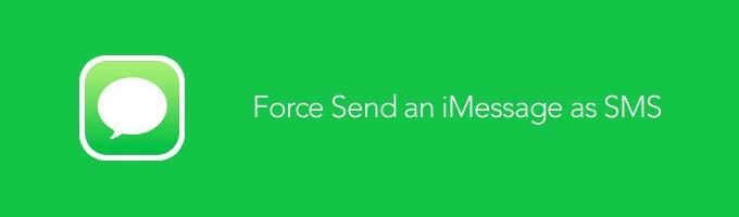 How to Force an iMessage to Be Sent as SMS on iOS 7 - Tự gửi SMS khi không dùng được iMessage trên iOS 7