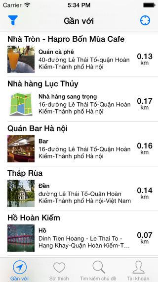 diem den viet 2 - Diem Den Viet - Tra cứu địa điểm dễ dàng trên iOS