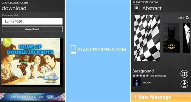 glancescreens - Kho ảnh nền cho Windows Phone