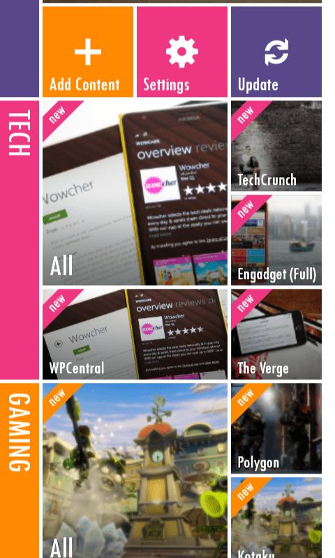 magnify beta windows phone 2 - Magnify BETA: Đọc RSS tốt hơn trên Windows Phone