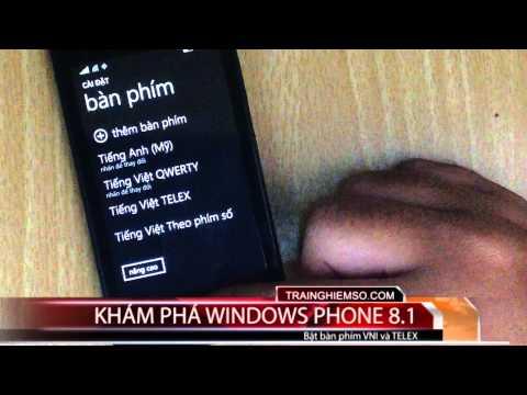 telex vni windows phone 8.1 - [Video] Cách bật bộ gõ TELEX hay VNI trong Windows Phone 8.1