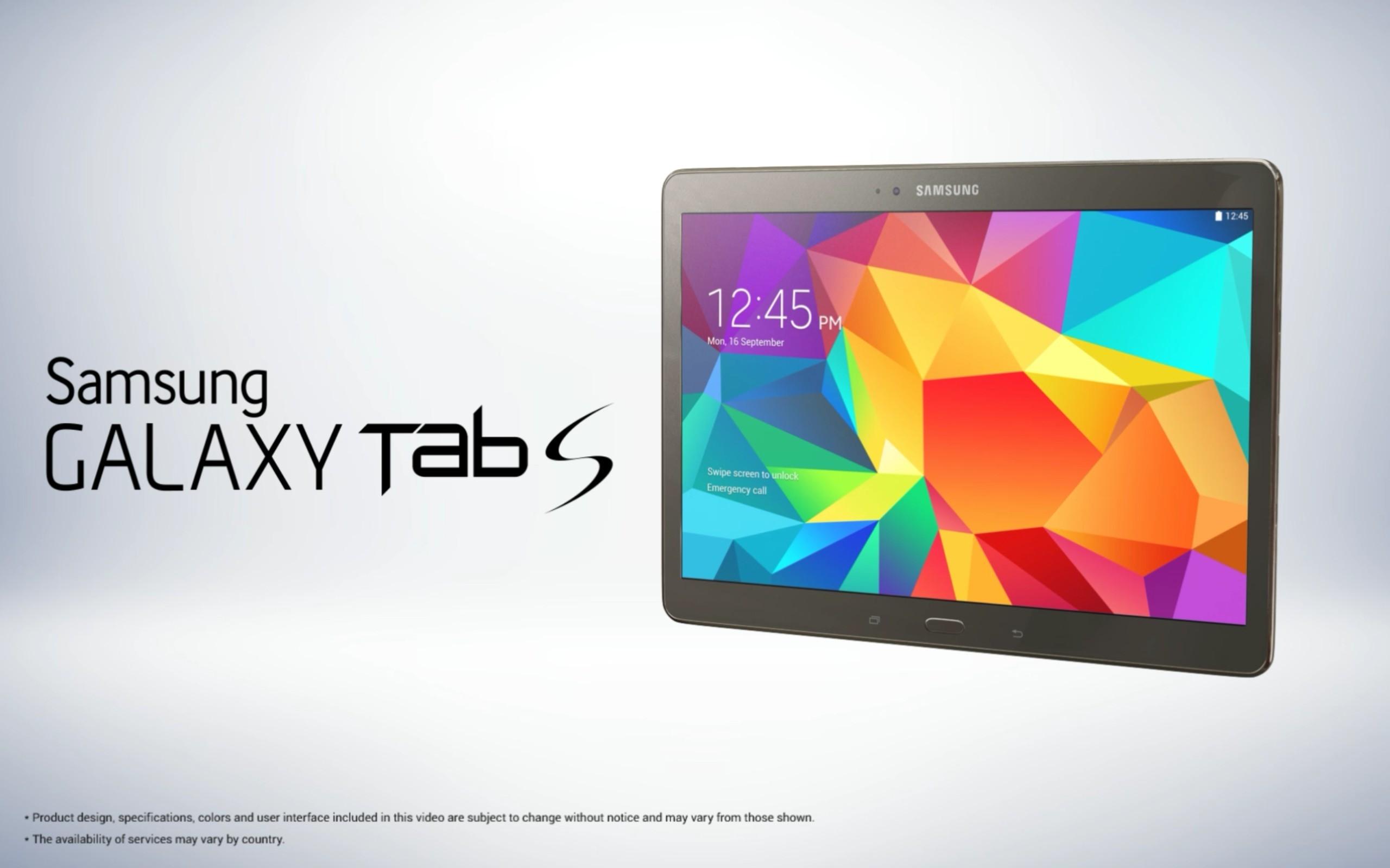 Tab S 1 - Samsung trình làng Galaxy Tab S ngày 12/6 tại New York