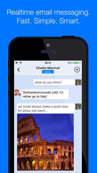 hop for ios 1 - Hop - Ứng dụng biến email thành dạng hội thoại