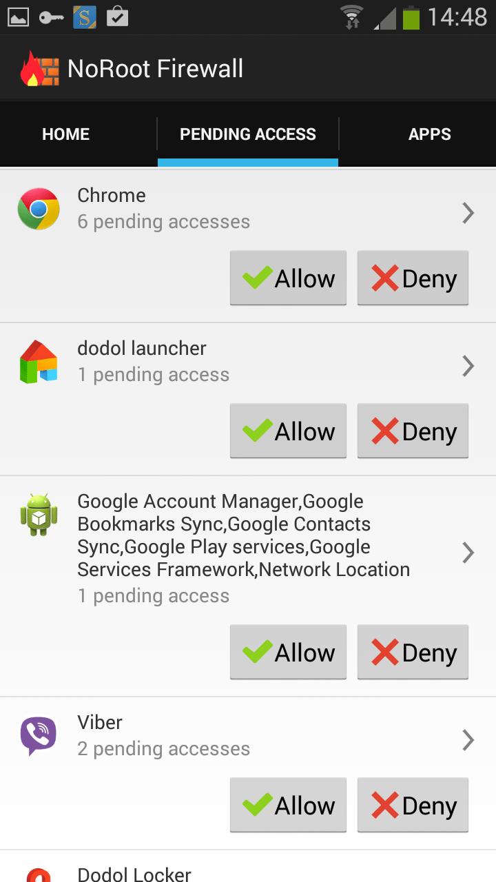 no root firewall 2 - Hướng dẫn giới hạn quyền truy cập mạng của các ứng dụng Android