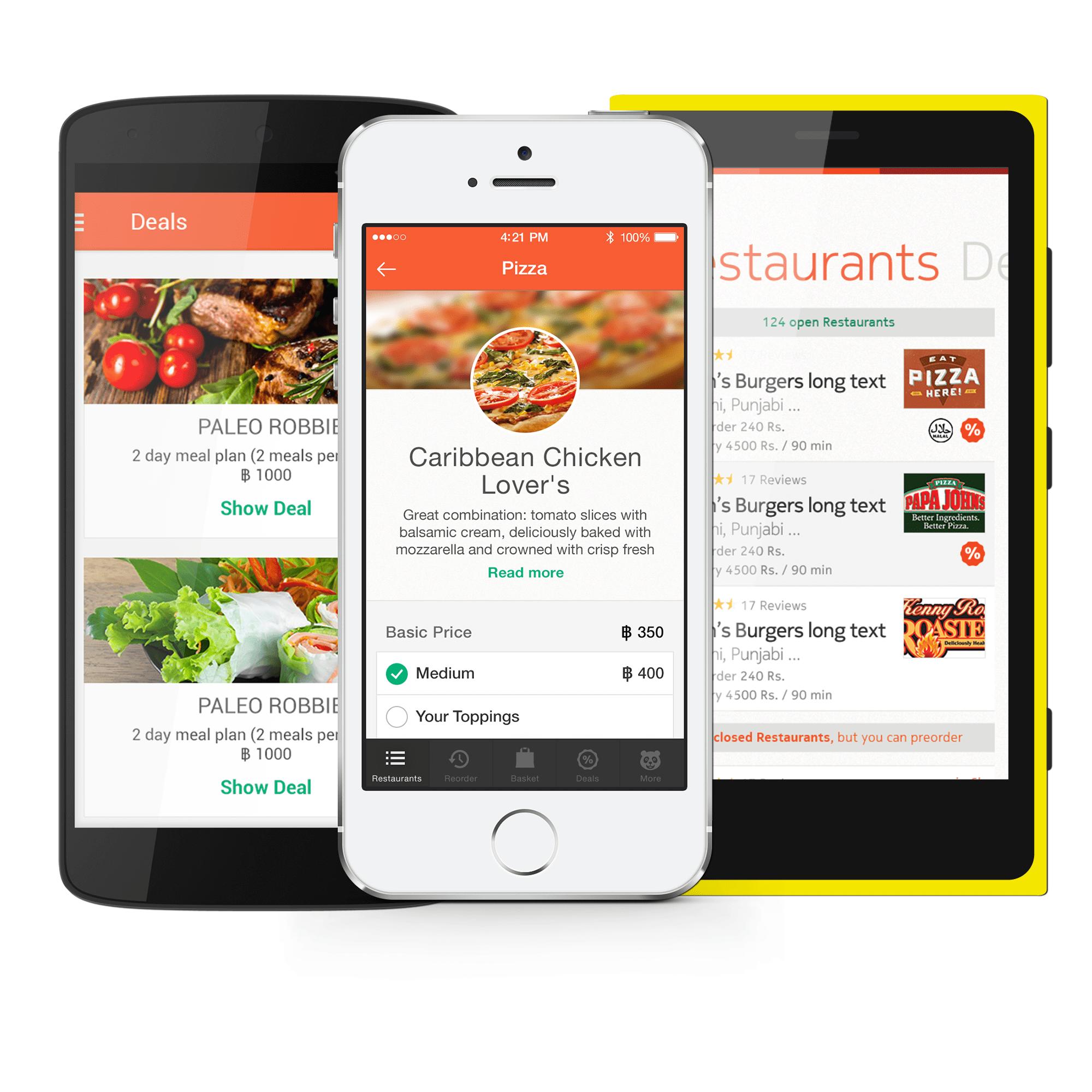 Giao diện mới của ứng dụng foodpanda - Foodpanda ra mắt phiên bản mới