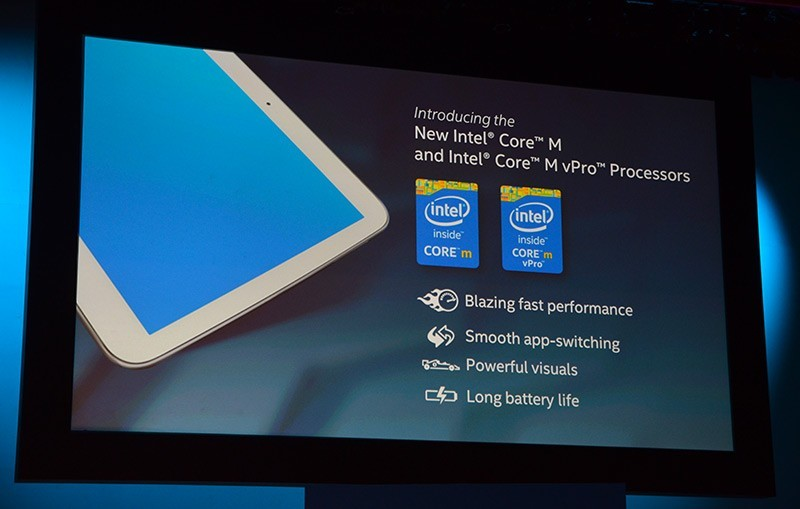 Intel core m - Intel ra mắt bộ vi xử lý Intel Core M