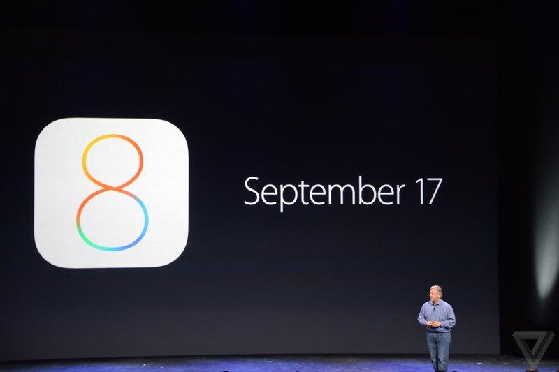 ios 8 september 17 - iOS 8 ra mắt chính thức ngày 17/9
