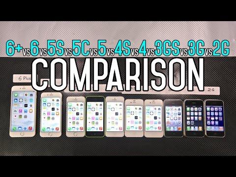 iphone 6 so sanh - So sánh tốc độ các dòng máy iPhone