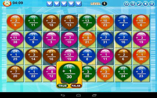 math balloon 1 - Math Balloons Add Sub: Thử thách cùng toán học
