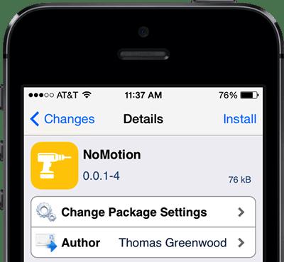 nomotion - Tắt hoàn toàn hiệu ứng chuyển động để tiết kiệm pin iPhone