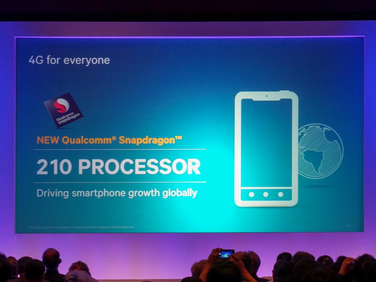 qualcomm snapdragon 210 - Chip lõi tứ Snapdragon 210 sẵn sàng cho máy giá rẻ trong 2015