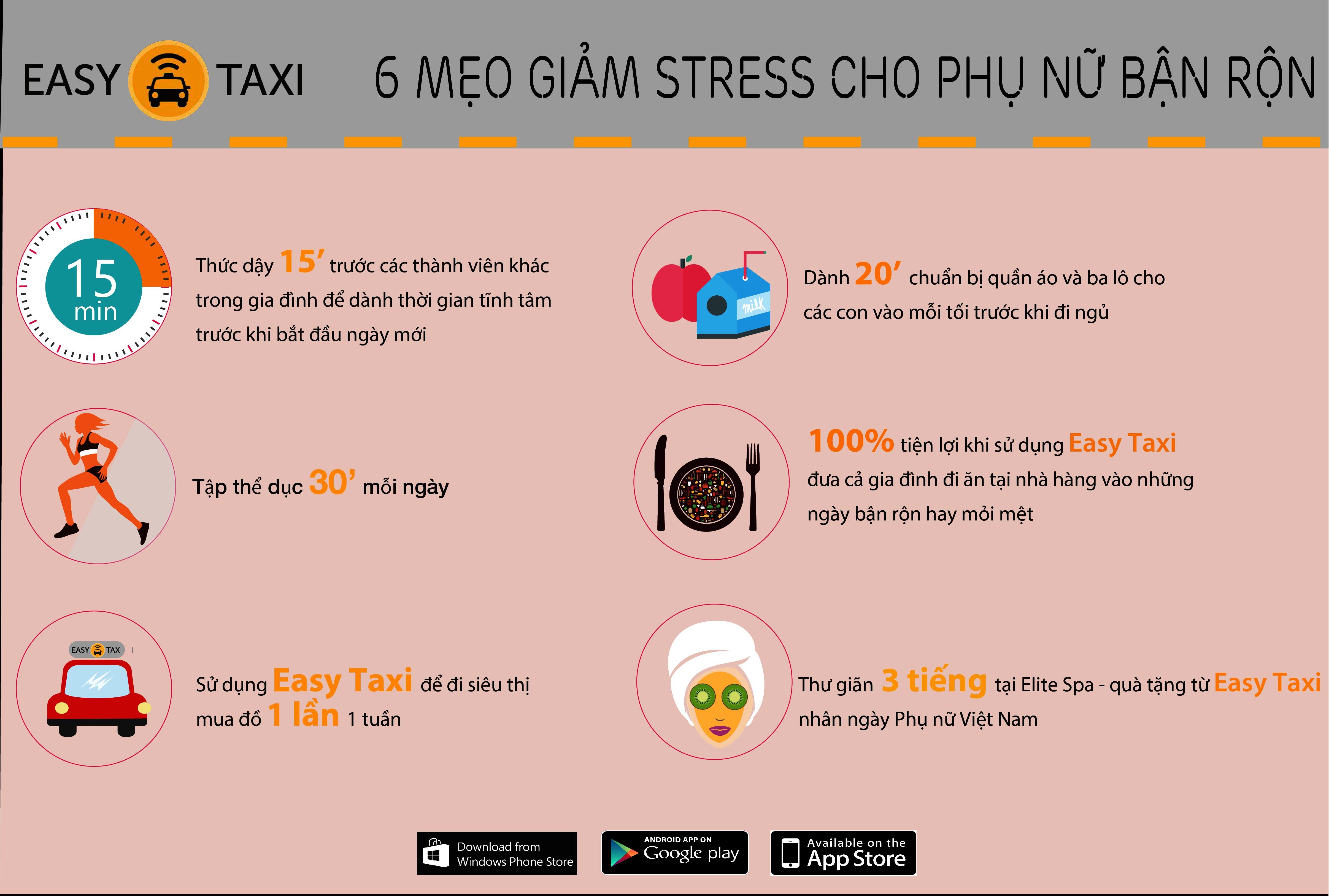 Easy Taxi Womens Day Infographic - Easy Taxi tri ân khách hàng nữ