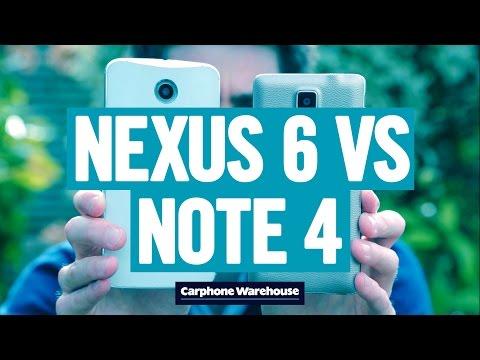 nexus 61 - So sánh Google Nexus 6 và Samsung Galaxy Note 4 qua Video