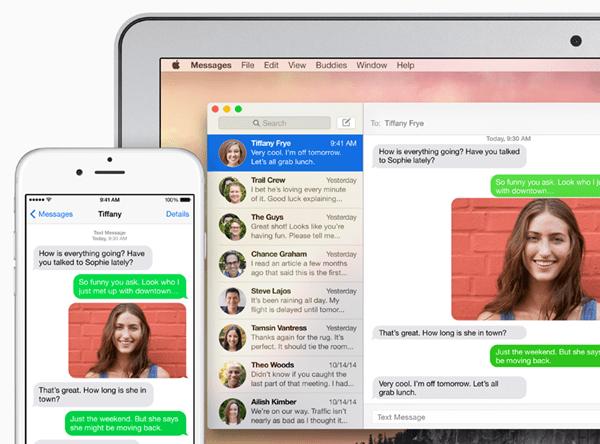 sms relay - iOS 8.1 có gì mới?