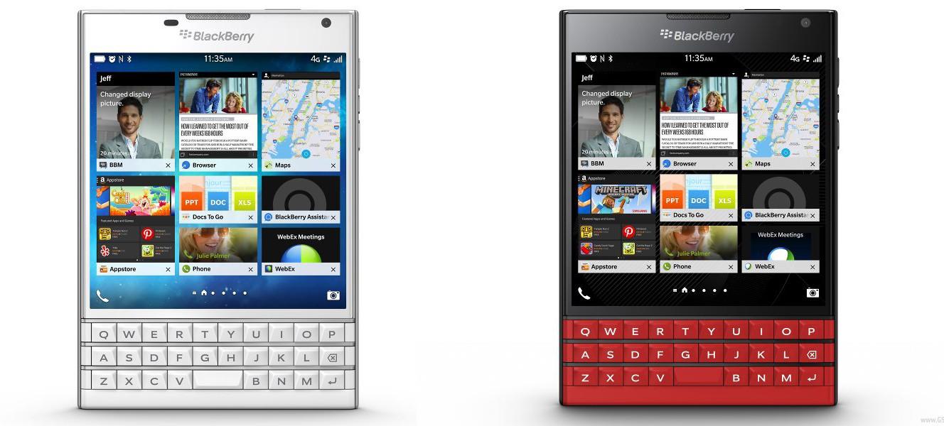 blackberry passport - BlackBerry Passport có thêm hai màu trắng và đỏ