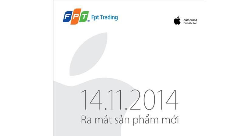 thu moi ra mat iphone 6 - 14/11: iPhone 6 chính hãng sẽ ra mắt tại Việt Nam