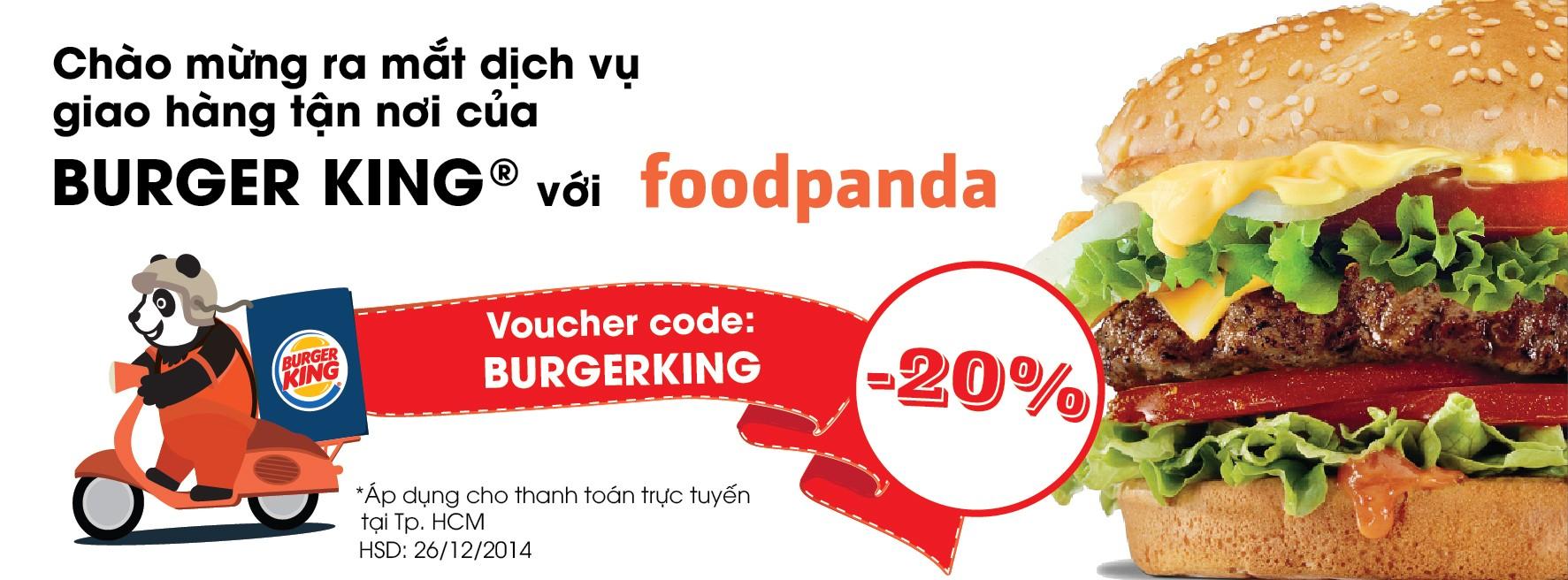 Hop tac foodpanda Burger King - Burger King hợp tác độc quyền với foodpanda