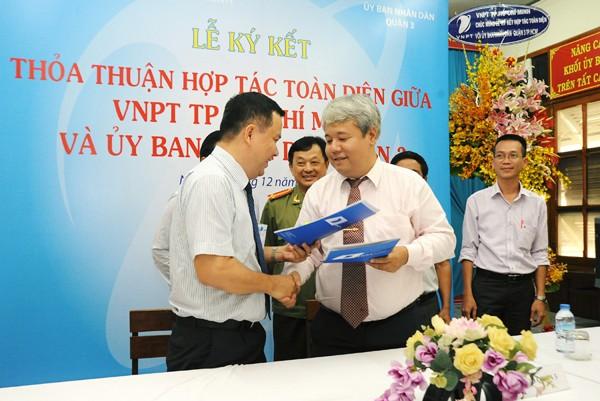 UBNGkyket - VNPT Tp.HCM cùng UBND Quận 3 đẩy mạnh CNTT trong công tác quản lý