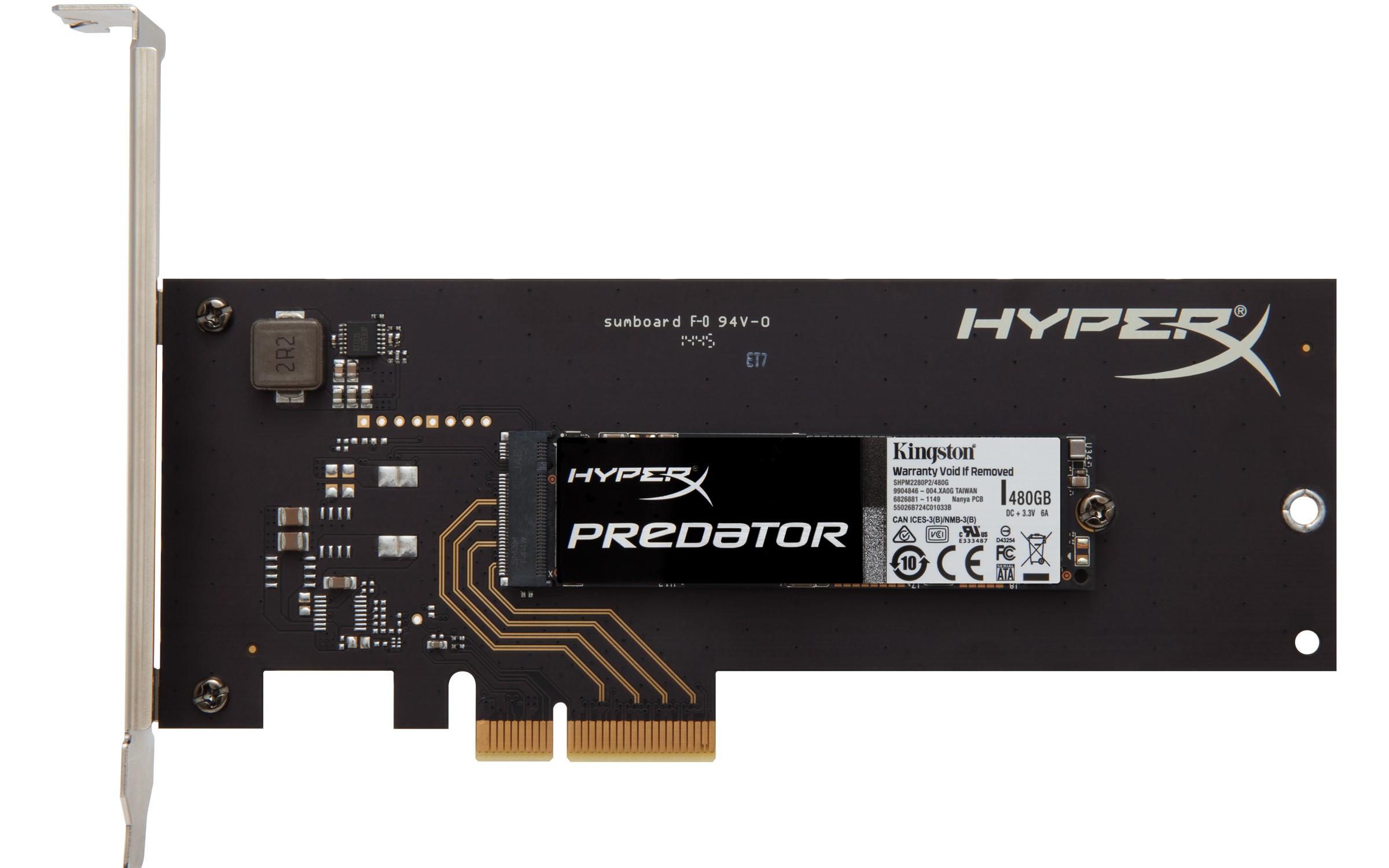 SHPM2280P2H 480GB - HyperX giới thiệu SSD PCIe hiệu năng cao