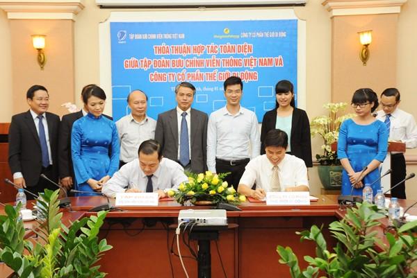 ky ket vnpt thegioididong - VNPT - Công ty Cổ phần thế giới di động ký kết hợp tác kinh doanh