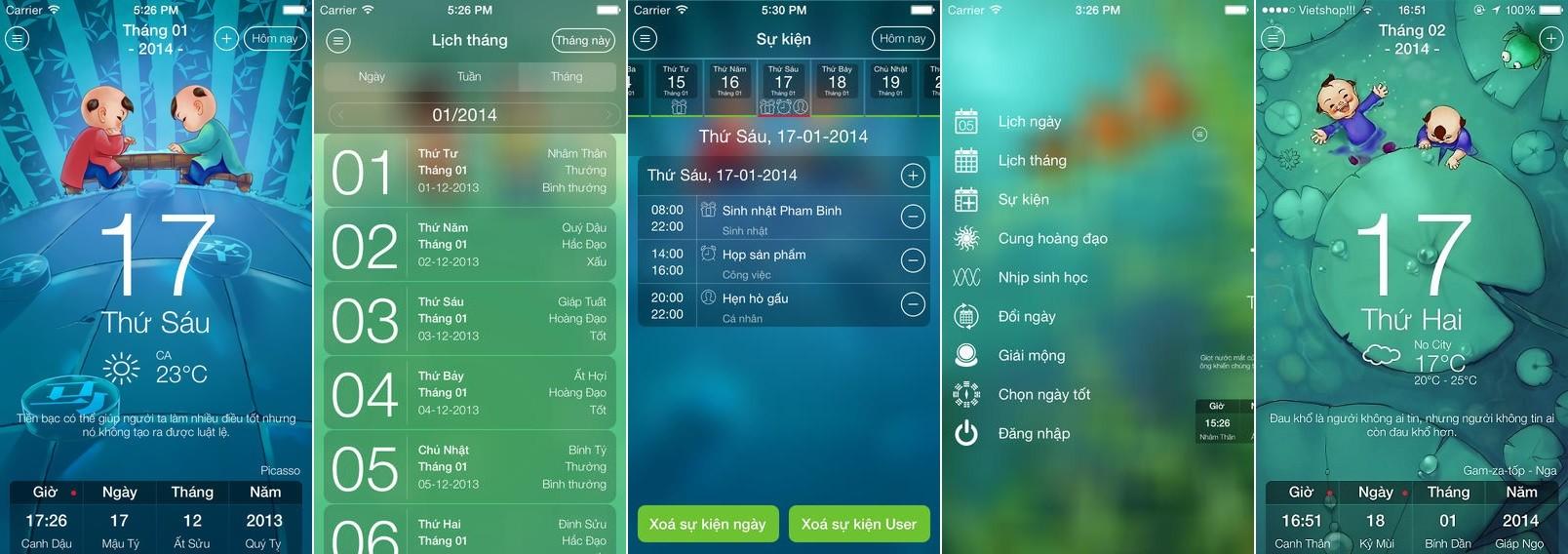 lich nhu y - Xem lịch âm trên Android với Lịch như ý