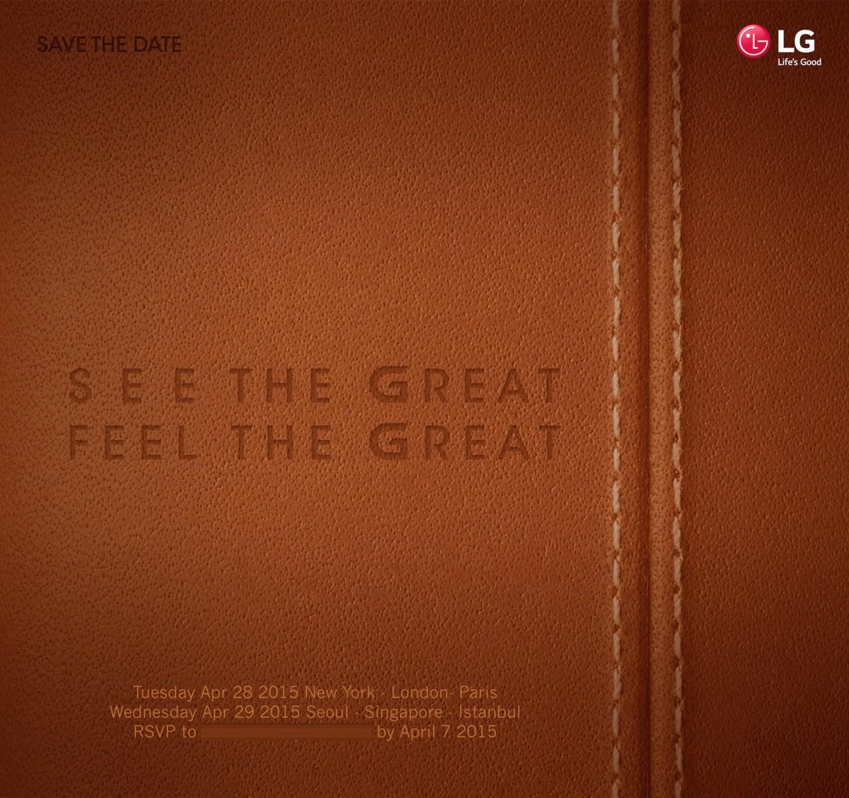 LG G4 - LG G4 sẽ ra mắt vào ngày 28-04