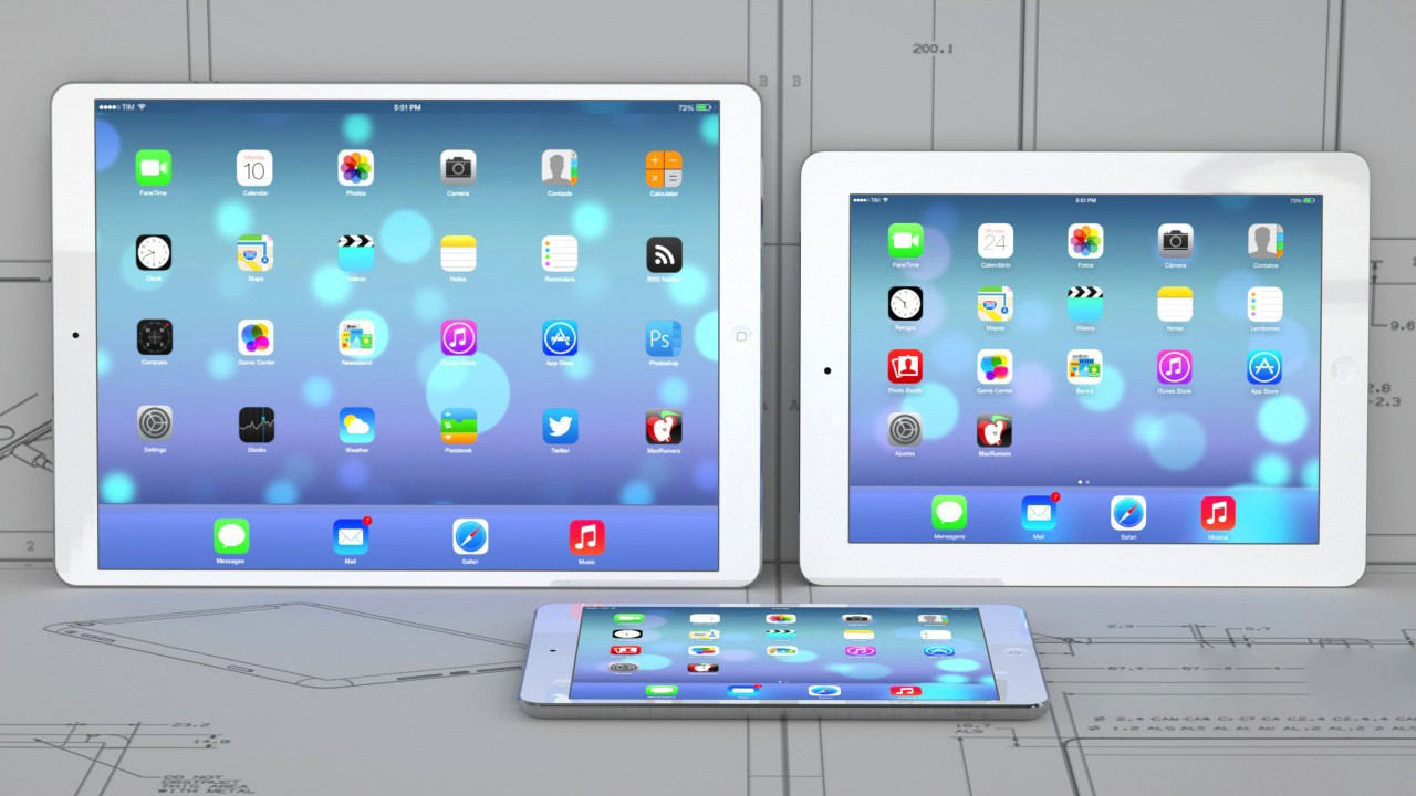 iPad Pro - Mã nguồn iOS 9 hé lộ iPad Pro sẽ có màn hình 2732 x 2048