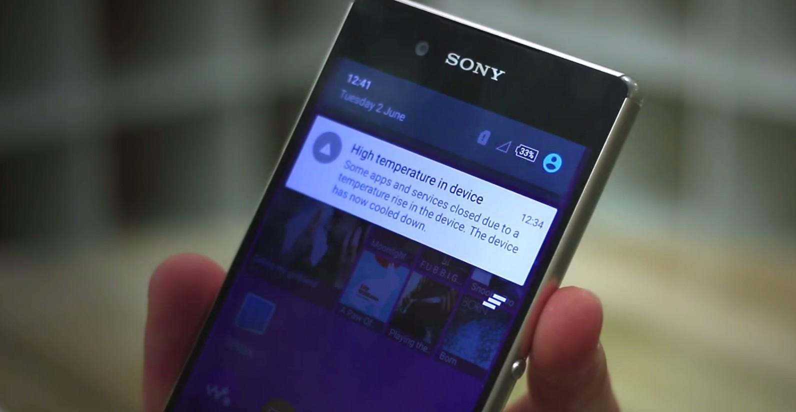sony Z3  - Sony xác nhận lỗi quá tải nhiệt của Xperia Z3+