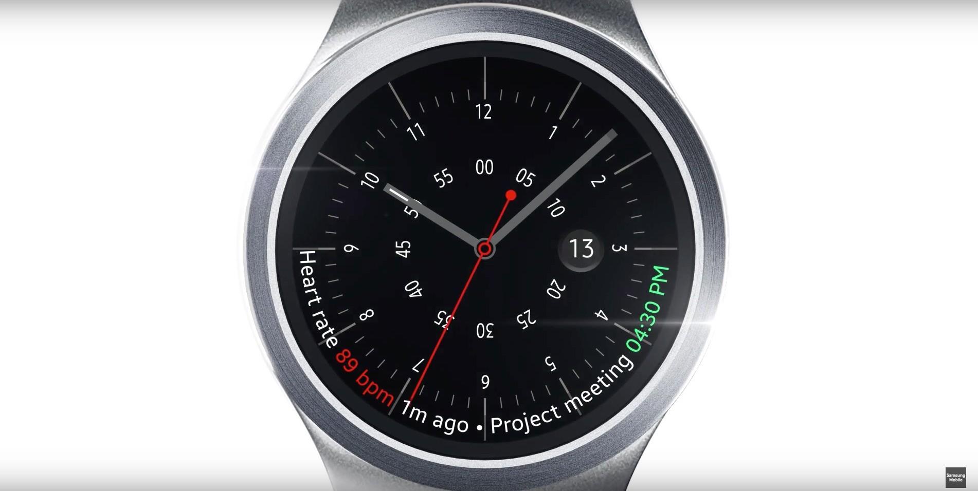 samsung gear s2 - Samsung giới thiệu giao diện trên đồng hồ Gear S2
