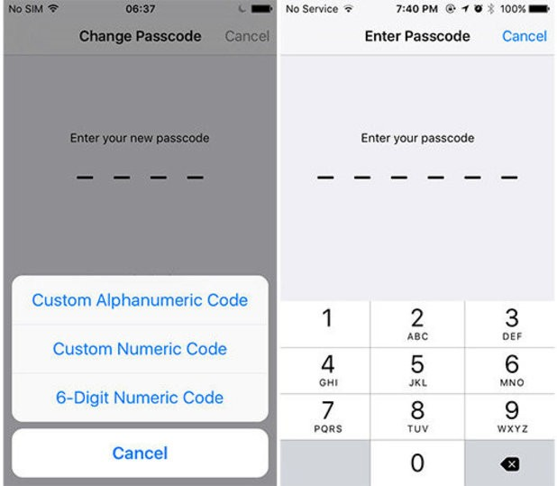 6 digit numeric code - Tạo mật khẩu 6 số trên iOS 9