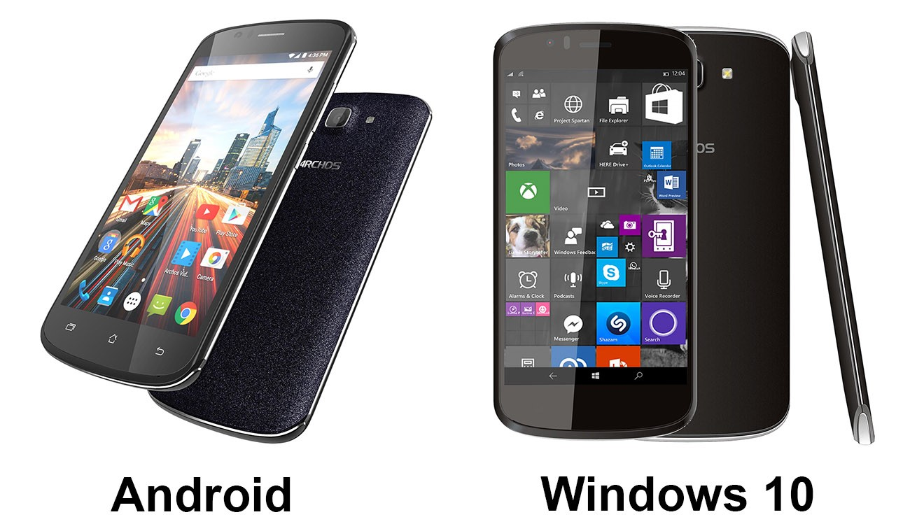 Archos chạy windows 10 - Archos ra mắt ba điện thoại mới, bao gồm cả máy Windows 10