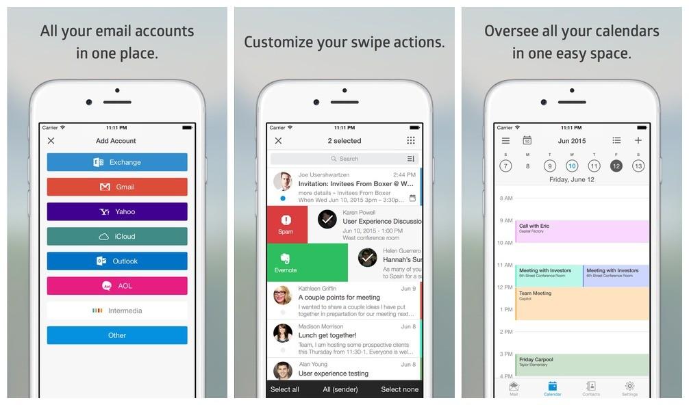 boxer app - Quản lý tất cả account email trong một ứng dụng