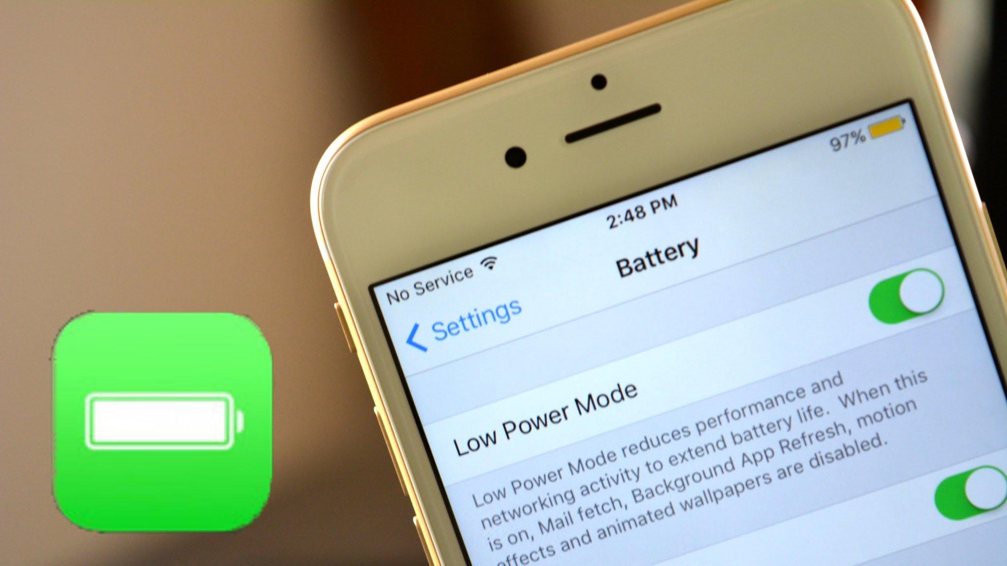 ios9 low power mode 1 - Hướng dẫn bật chế độ tiết kiệm năng lượng trên iOS 9