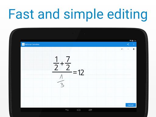 myscript calculator  - Tính toán bằng cách viết tay với MyScript Calculator