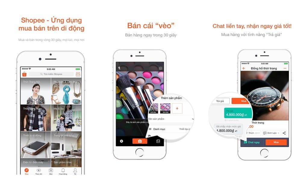shopee - Mua bán dễ dàng qua điện thoại với ứng dụng Shopee