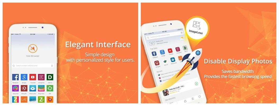 yolo browser - Trình duyệt không quảng cáo cho Android