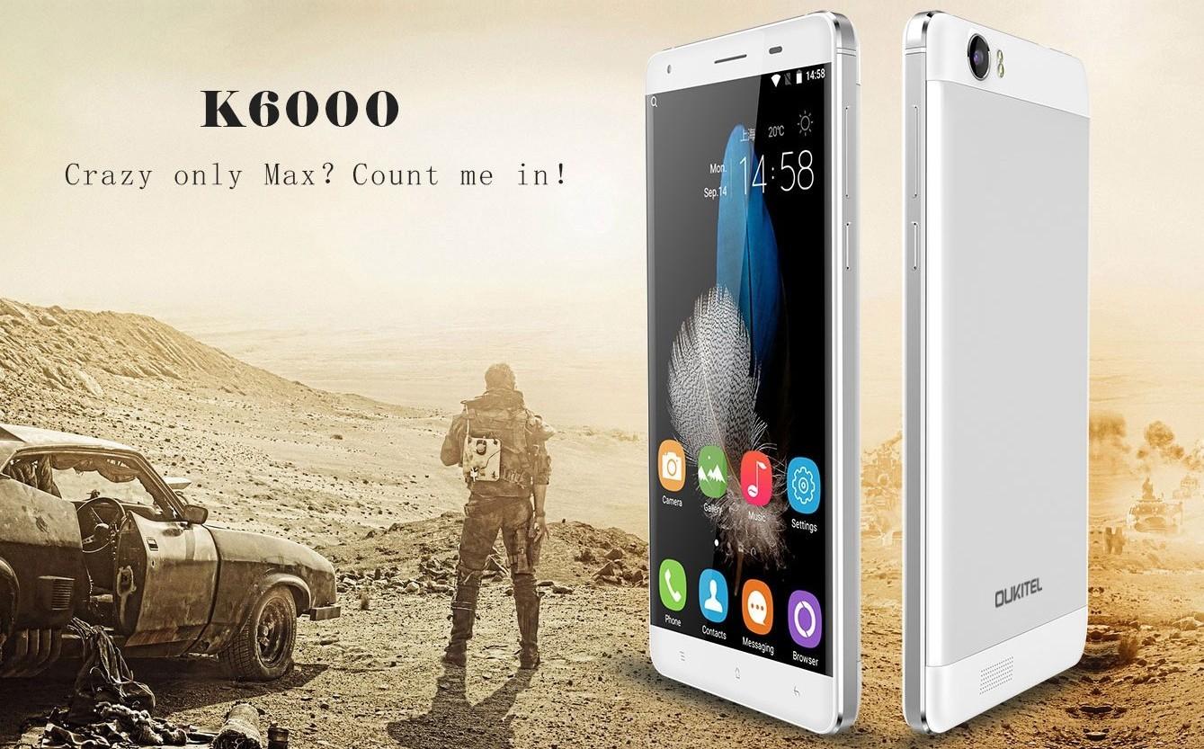 Oukitel K6000 - Oukitel K6000 chính thức có mặt với pin 6.000 mAh