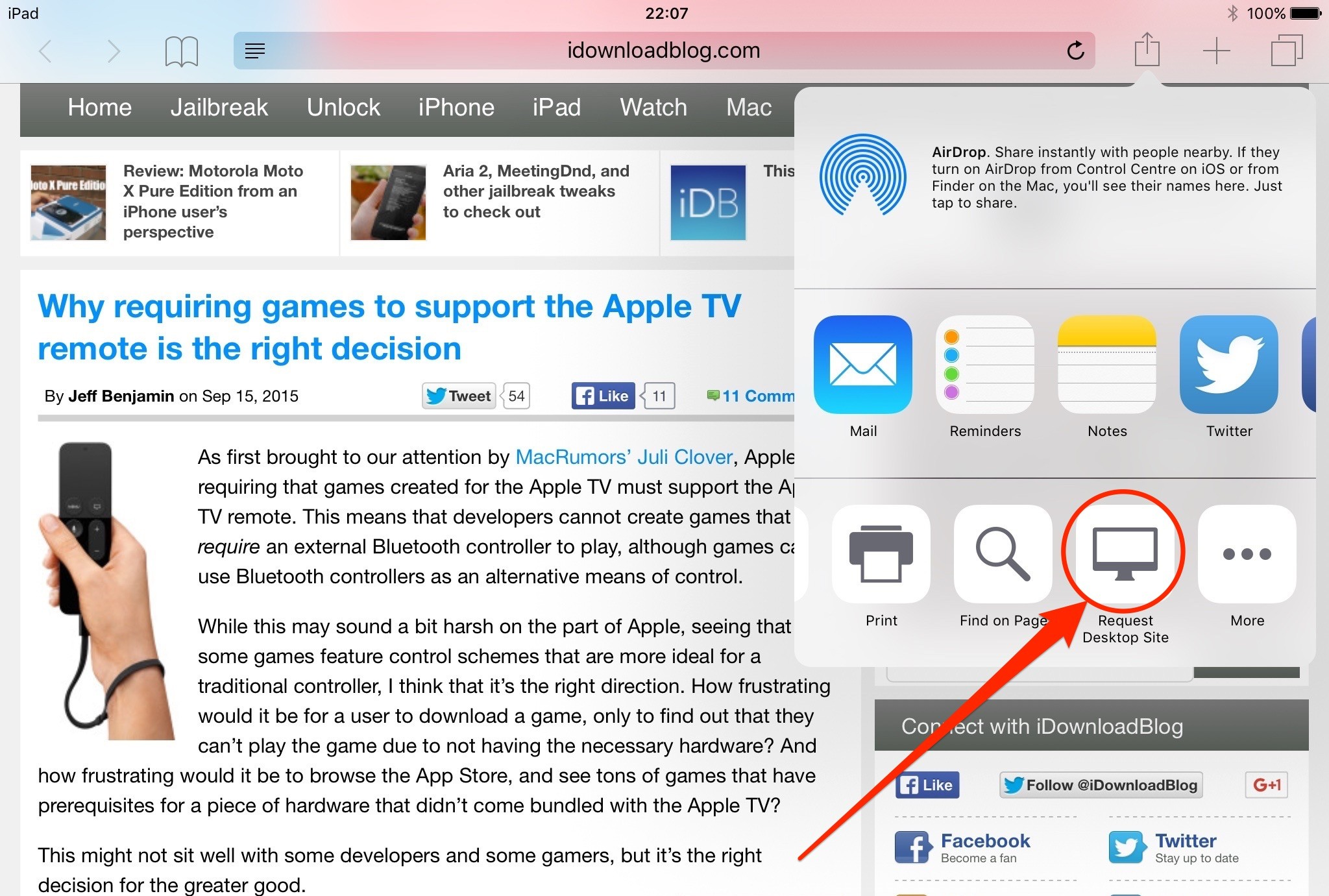 ios 9 request desktop site - Truy cập phiên bản Desktop của website trên iOS 9