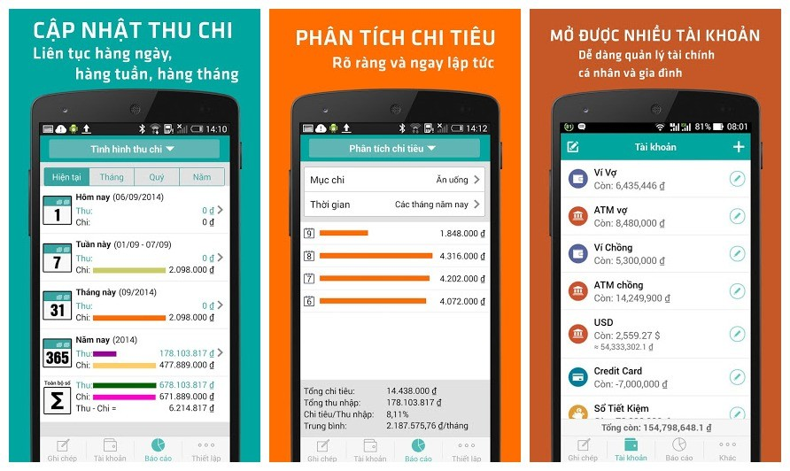 so thu chi misa - Quản lý thu chi trên Android cùng phần mềm thuần Việt MISA
