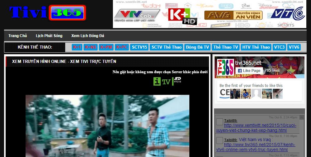 tv365 - Xem truyền hình online ngay trên trình duyệt di động