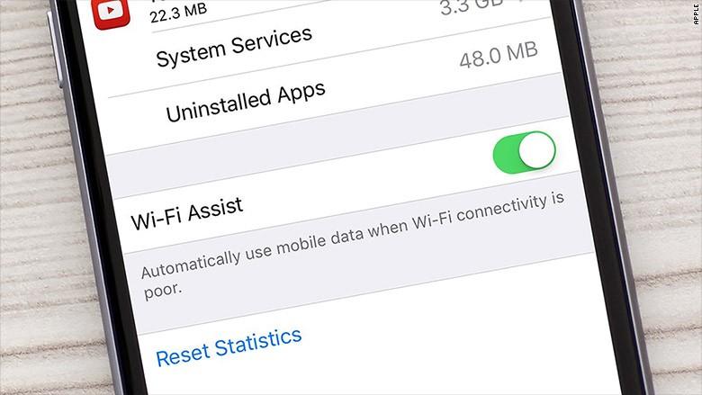 wifi assist - Loại bỏ đi những điểm phát Wi-Fi yếu trên iOS 9
