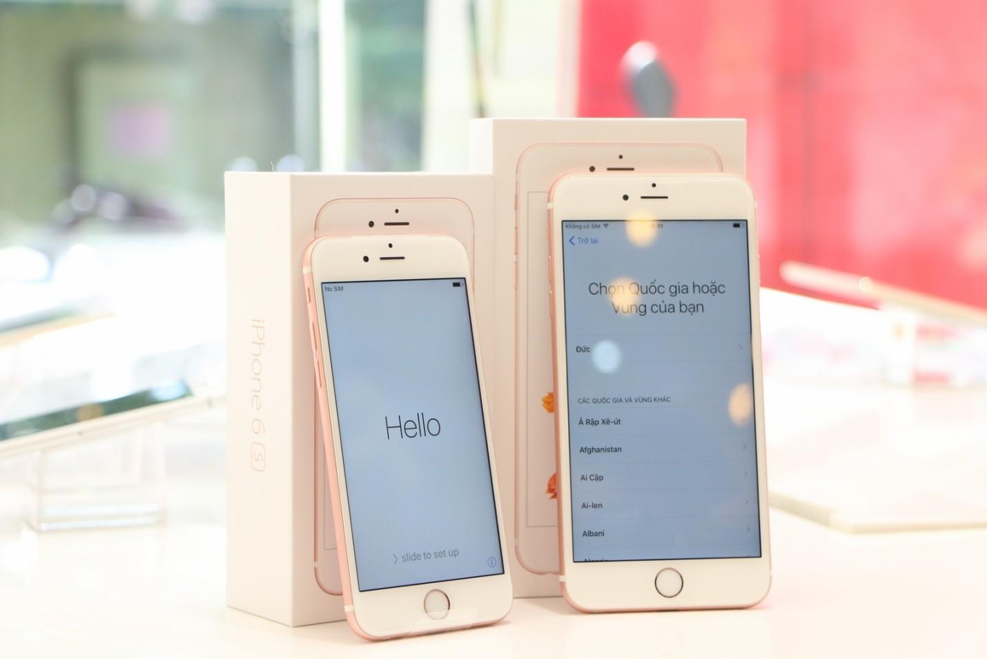 iphone 6s chinh hang - iPhone 6s/6s Plus chính hãng khuấy động thị trường