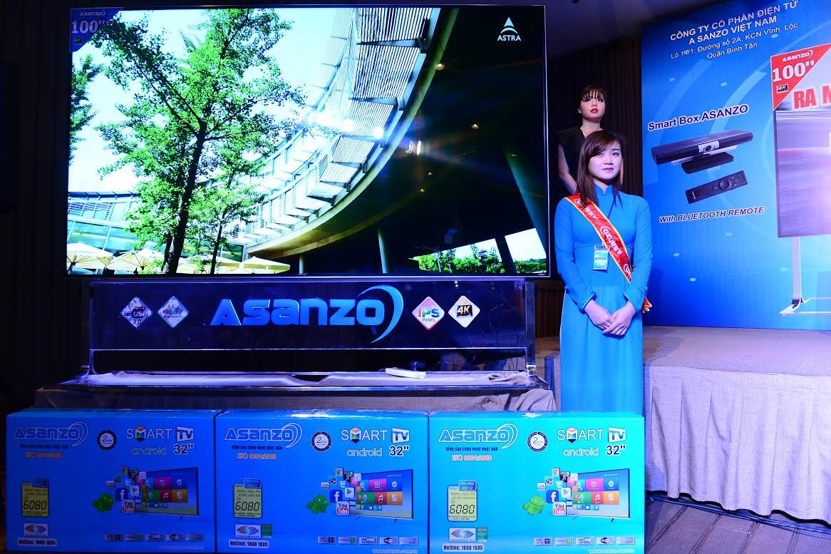 Asanzo 100 inch - Asanzo ra mắt tivi 100 inch Ultra HD 4K, giá khoảng 50 triệu đồng